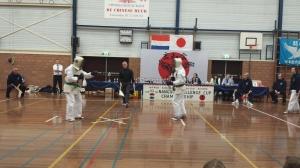 Gisteren was de 43e Nangou Challenge Cup Championship in Leimuiden. Dit jaar heb ik voor het eerst mee kunnen doen. Spannend om zelf mee te doen, maar zeker ook om te kijken hoe de andere karateka's het hebben gedaan! Het zag er indrukwekkend uit.